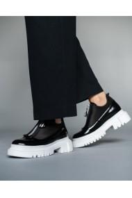 Pantofi casual dama din piele naturala lacuita