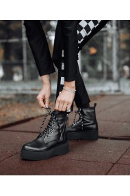 Ghete inalte Bigiottos Shoes piele naturala neagra Impuls