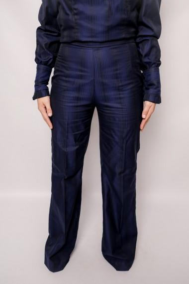 Pantaloni largi largi din bumbac Blancod Albastri
