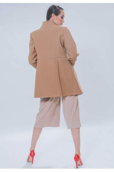 Pantaloni bej culottes
