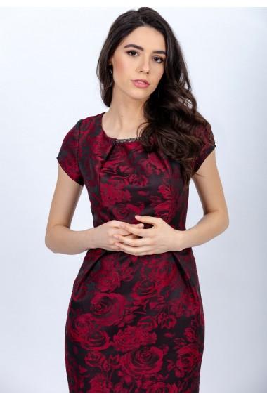 Rochie din jaquard imprimat cu imprimeu floral