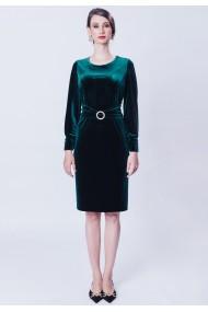 Rochie verde smarald din catifea
