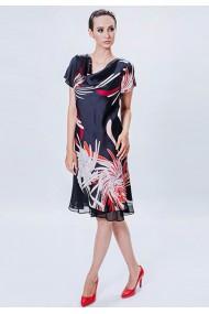 Rochie midi cu imprimeu floral abstract