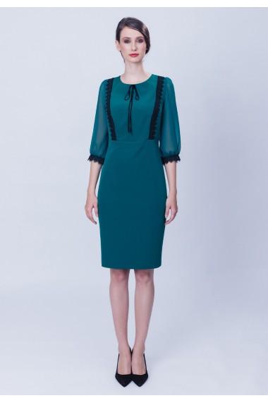 Rochie verde cu pasmanterii