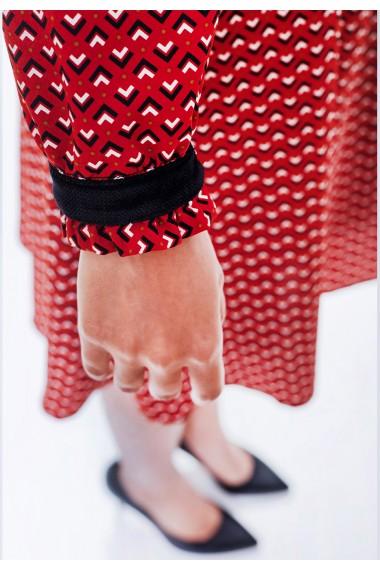 Rochie Bel Punto rosie cu imprimeu grafic