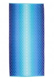 rosop de plaja,100% Bumbac Natural, 85x165cm, Blue Shades, BCH11