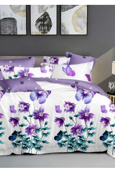 Lenjerie Pat, 6 Piese, Bumbac Finet Premium, Floral DN103