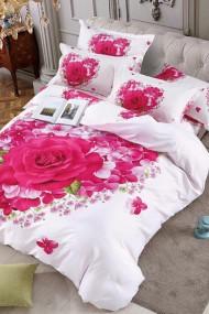 Lenjerie pentru pat dublu, 100% Bumbac Finet, Trandafiri JO1081