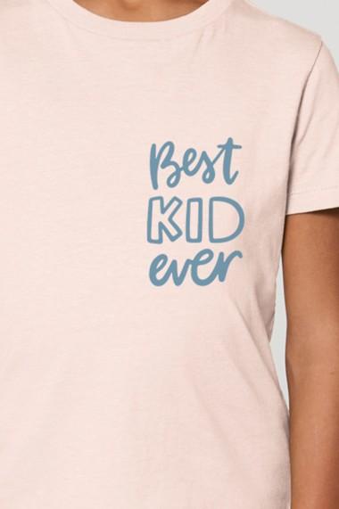 Tricou BEST KID baieti, 100% Bumbac Organic, CANDY PINK, O504MTCB