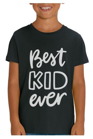 Tricou BEST KID baieti, 100% Bumbac Organic, Negru, O510MTCB
