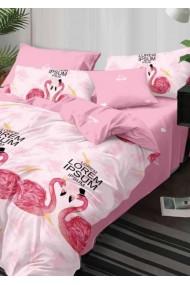 Lenjerie Pat, 6 Piese, Bumbac Finet Premium, Flamingo PS1035