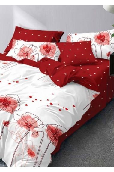 Lenjerie Pat, 6 Piese, Bumbac Finet Premium, Floral PS107