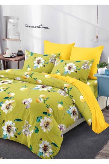 Lenjerie Pat, 6 Piese, Bumbac Finet Premium, Floral PV1020