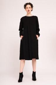 Rochie midi cu spate contrastant