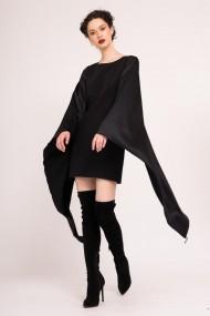 Rochie scurta cu maneci kimono negru