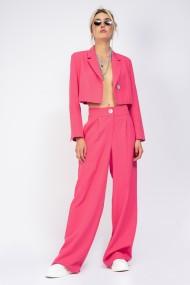 Sacou Bluzat cropped roz neon