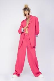 Sacou Bluzat oversized roz neon