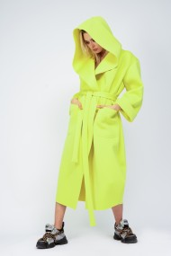 Palton Bluzat din neopren neon