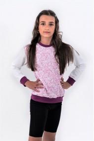 Bluza trening Brumy-Kids F007 pink lace roz