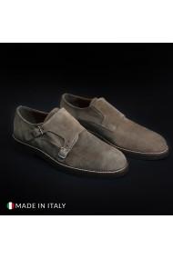 Pantofi Madrid 600_CAMOSCIO_TAUPE-BLK