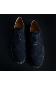Pantofi Duca di Morrone 208D_CAMOSCIO_BLU