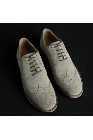 Pantofi Duca di Morrone 208D_CAMOSCIO_TORTORA