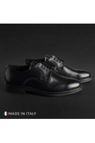 Pantofi Duca di Morrone O58D_ABRASIVATO_NERO
