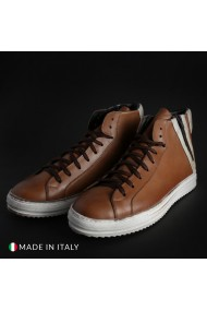 Pantofi sport Duca di Morrone FILIP1D_PELLE_CUOIO-BIANCO