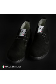 Pantofi Duca di Morrone 221D_CAMOSCIO_NERO
