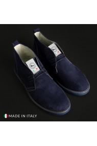 Pantofi Duca di Morrone 221D_CAMOSCIO_BLU