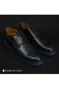 Pantofi Duca di Morrone 208_ABRASIVATO_BLU
