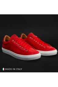 Pantofi sport Duca di Morrone F7125_CAMOSCIO_ROSSO