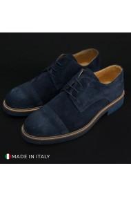 Pantofi Duca di Morrone 322_CAMOSCIO_BLU