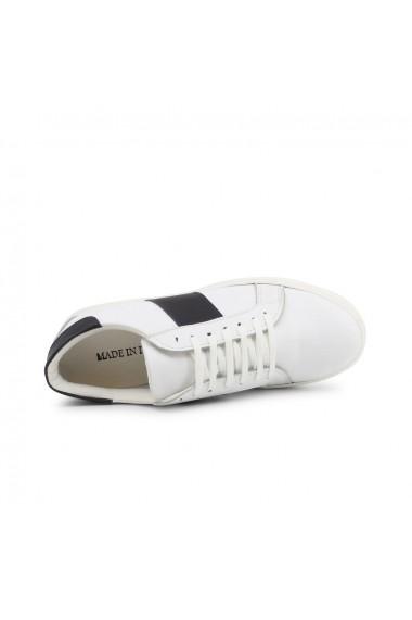 Pantofi sport Duca di Morrone 005 PELLE BIANCO-BLU