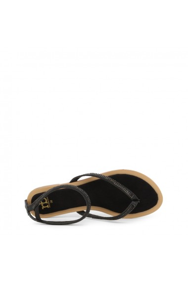 Sandale plate Roccobarocco RBSC1C502 NERO
