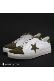 Pantofi sport Duca di Morrone VIRGILIO-STELLA_BIANCO-VRD