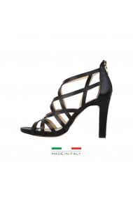 Sandale cu toc Versace 1969 JUSTINE negre cu toc