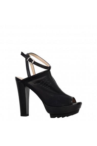 Sandale cu toc Versace 1969 VIRGINIE BLACK negru