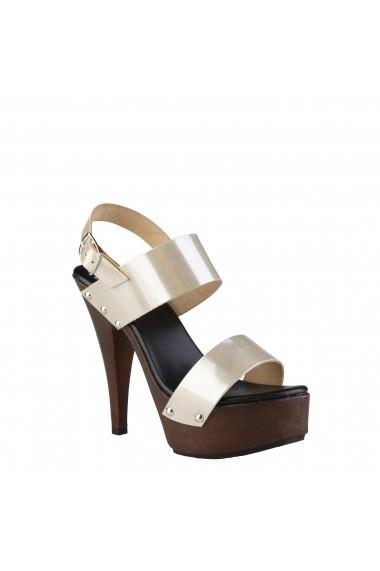 Sandale cu toc V 1969 PAULETTE VENUS-SABBIA Argintiu