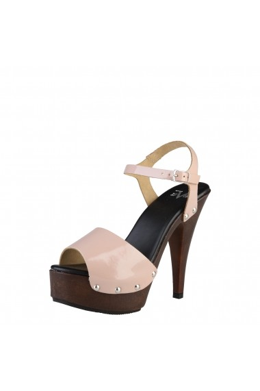 Sandale cu toc V 1969 DORALICE VERNICE-NUDE nude