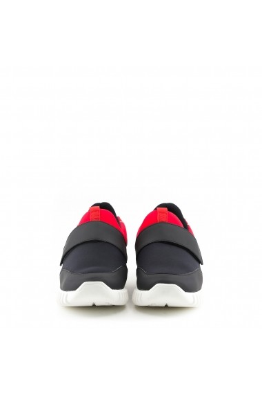 Pantofi sport Made in Italia LEANDRO_NERO_ROSSO