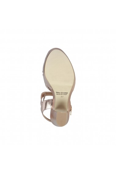 Sandale cu toc Made in Italia ENIMIA ROSA roz-argintiu