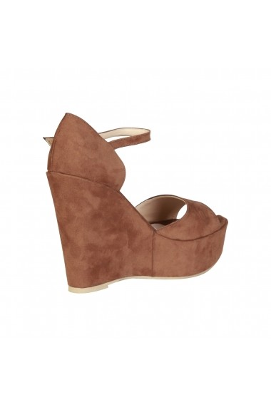 Sandale cu platforma Made in Italia BENIAMINA CUOIO maro