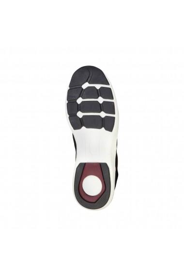 Pantofi sport Duca di Morrone DEREK_BLACK-GREEN negru