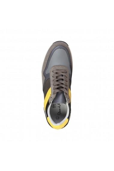Pantofi sport Duca di Morrone DEREK_TAUPE-YELLOW galben