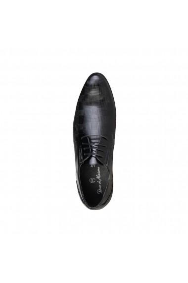 Pantofi Duca di Morrone CLARK_BLACK Negru