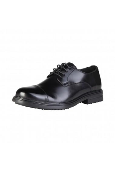 Pantofi Duca di Morrone LOUIS_BLACKS negru - els