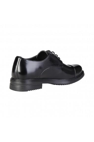 Pantofi Duca di Morrone LOUIS_BLACKS negru