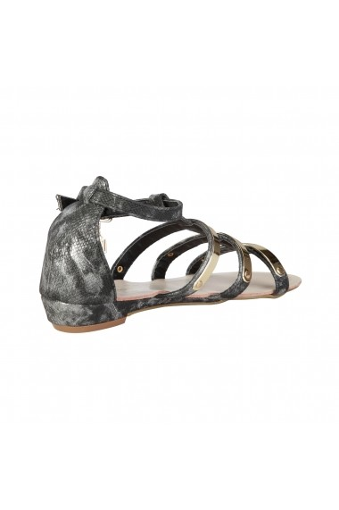 Sandale plate Laura Biagiotti 354 BLACK negru