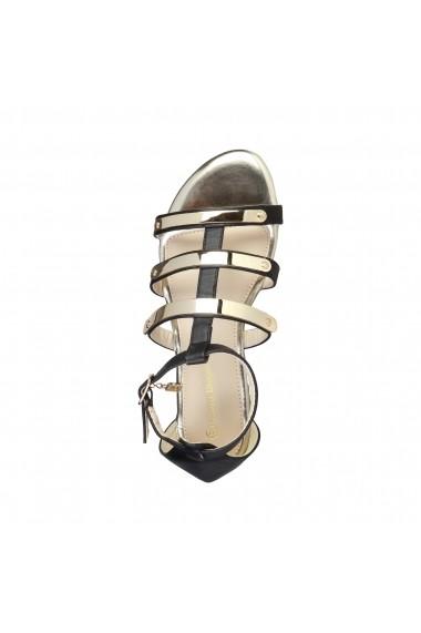 Sandale plate Laura Biagiotti 360 BLACK negru